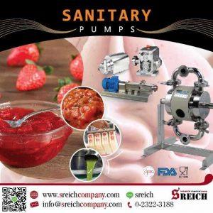 ปั๊มฟู้ดเกรด สำหรับดูดของเหลว ของหนืดผสมชิ้นเนื้อ Food Processing Equipment
